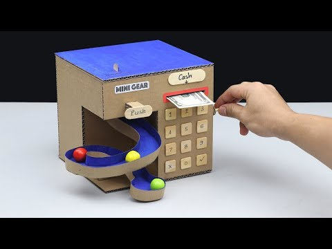 Gumball Vending Machine And Save Money DIY From Cardboard