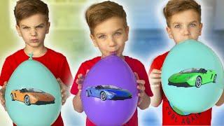 Вся комната в воздушных шарах Учим Цвета на английском с разноцветными шариками
