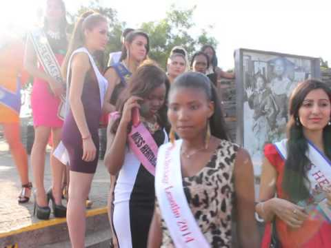 Miss Heritage 2014 Contestants @ Hector Pieterson Memorial in Soweto South Africa