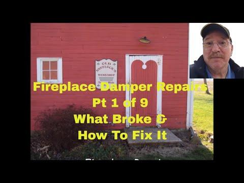 Fireplace Damper Repairs   by Old Sneelock's Workshop