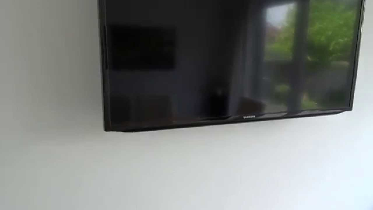 Wall mounted Flat Panel TV with hidden cables in HD 1080p - YouTube