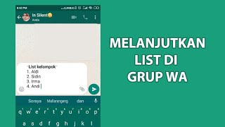 Cara Mengisi List di WA (Whatsapp) - YouTube