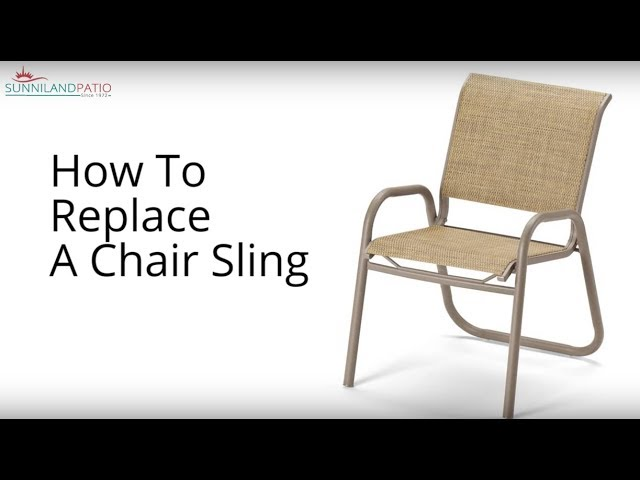 how to replace a chair sling youtube