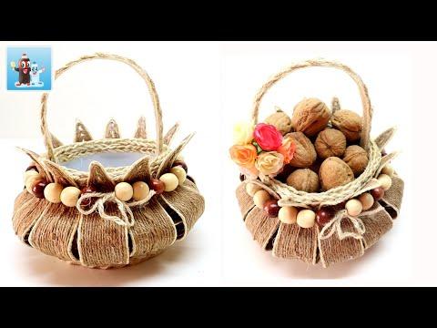Handcraft Jute Basket for Home Decor|Art and Craft Ideas|DIY