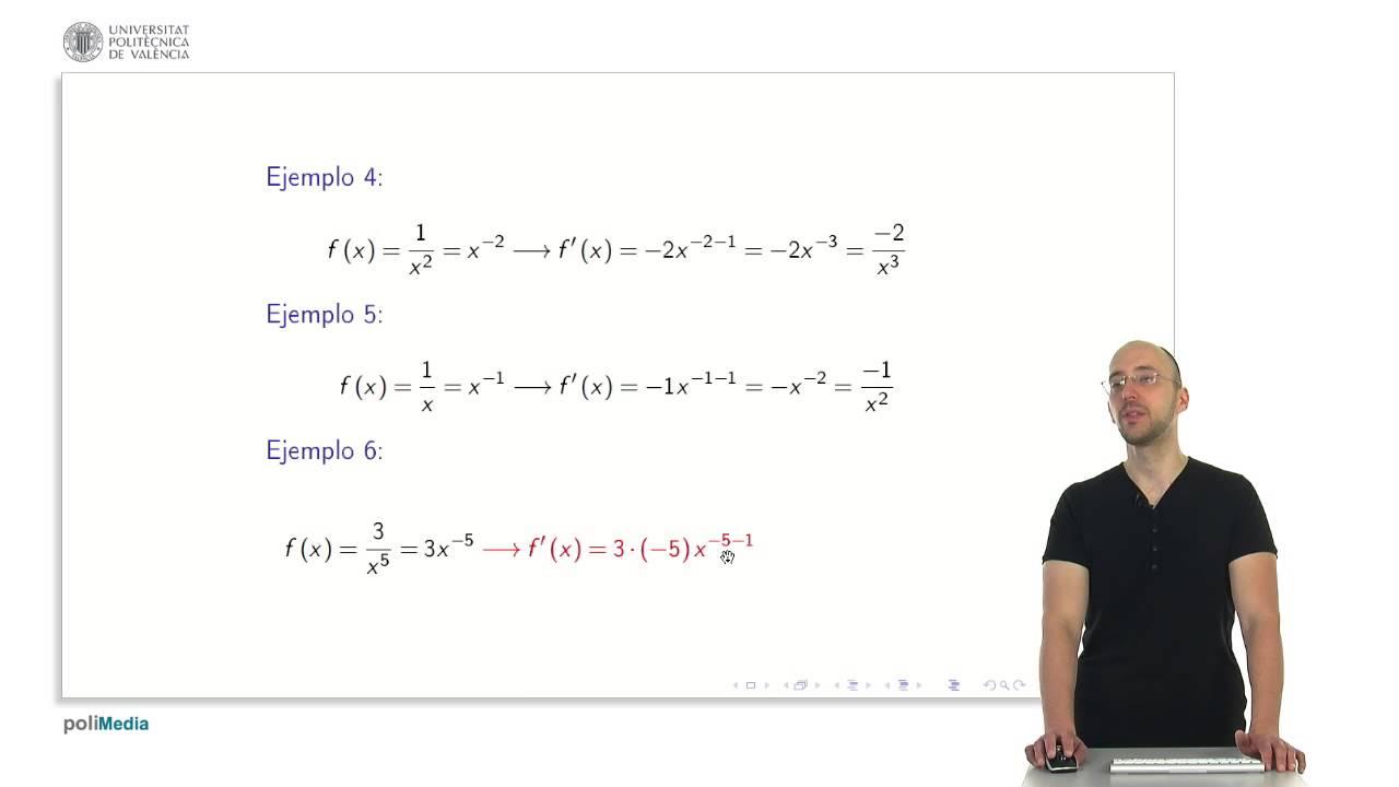 Derivadas de funciones elementales | 10/28 | UPV - YouTube