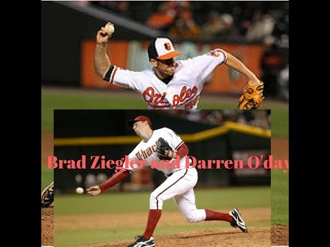 Darren O'Day and Brad Ziegler pitching mechanics