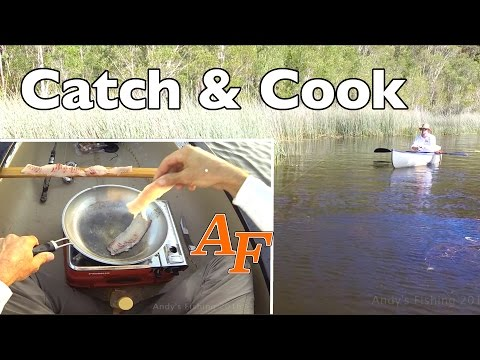 Catch and Cook Bass fishing in Kayak Andy's Fish Video EP.347