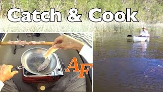 Catch and Cook Bass fishing in Kayak Andy's Fish Video EP.347(WARNING: It is actually illegal to eat Tilapia when caught in Queensland. I was unaware of this at the time of filming and urge anyone that catches a Tilapia in ..., 2016-11-30T06:35:52.000Z)