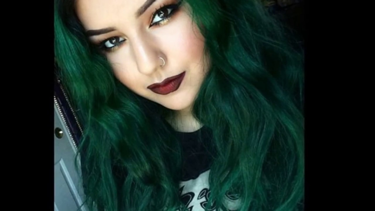 Cabello verde tendencia 2017 youtube - Gama de color verde ...