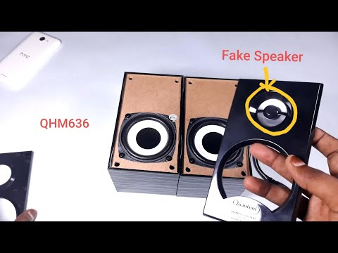 QUANTUM QHM636 USB Powered Wooden Speaker Unboxing and Review  2019