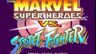 Saturn Longplay [049] Marvel Super Heroes vs. Street Fighter