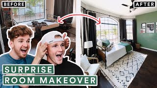 SURPRISE BEDROOM MAKEOVER for my Brother! *From Start to Finish*