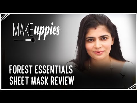 Forest Essentials Sheet Mask Review