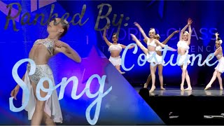 Dances In My Intro RANKED By Their Song AND Costume// Dance Moms