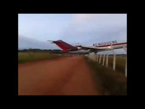 Boeing 727 Cargo Airplane CRASH in Sucre Colombia 12/20/16 Subtitles