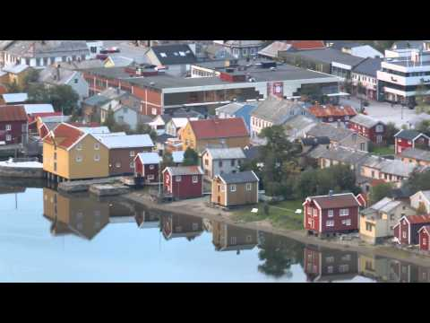 Mosjoen, Norway - Sept. 13, 2013 - Looking down on Mosjoen