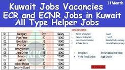 Kuwait Jobs Vacancies l All Type Helper Jobs in Kuwait l Kuwait Jobs Salary l ECR and ECNR Jobs