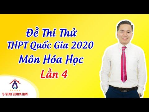 Môn Hóa - Luyện Đề Thi Thử THPT Quốc Gia 2020 - Đề 04   Thầy Minh Myelin