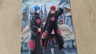 Speed Drawing Konan and Pain | Akatsuki (Naruto Shippuden)