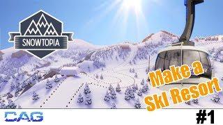 First look! ❄️  SNOWTOPIA ❄️🏂  Ski resort tycoon | Make your own ski resort