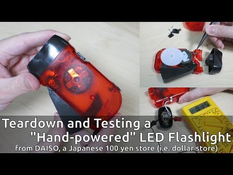 "Teardown and Testing a ""Hand-powered"" LED Flashlight"
