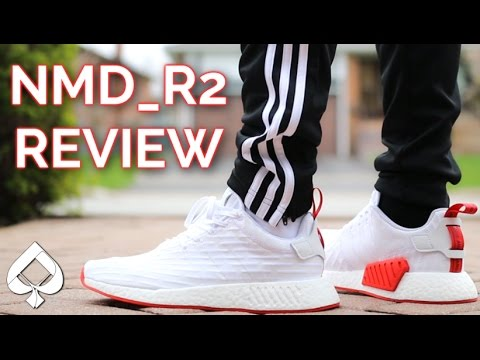 1113810543847 Adidas NMD R2 (White Red) Review