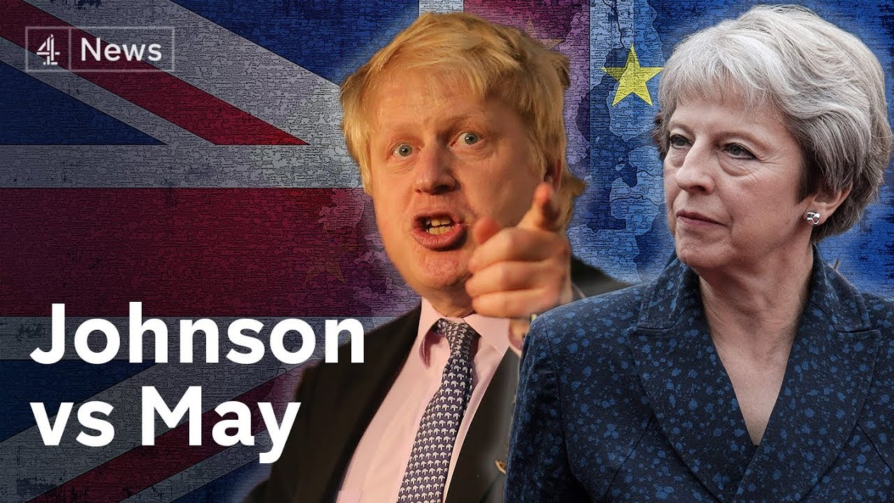 Brexit feud between May and Johnson