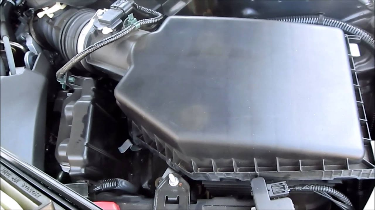 DIY 2013 2014 2015 2016 2017 Honda Accord Air Filter Replacement (i4  Engine)   YouTube