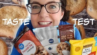 TASTE TEST | Chocolate Chip Cookies | Pillsbury vs Toll House vs Great Value