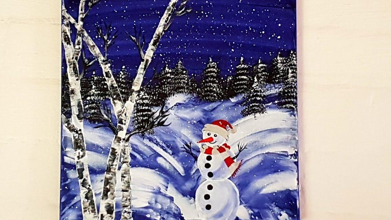 bilder malen leicht weihnachten - weihnachtsbaume malen
