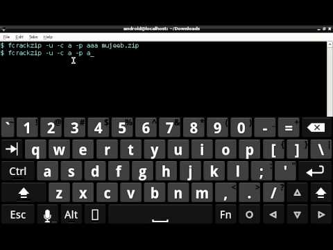 fcrackzip password cracker for starters