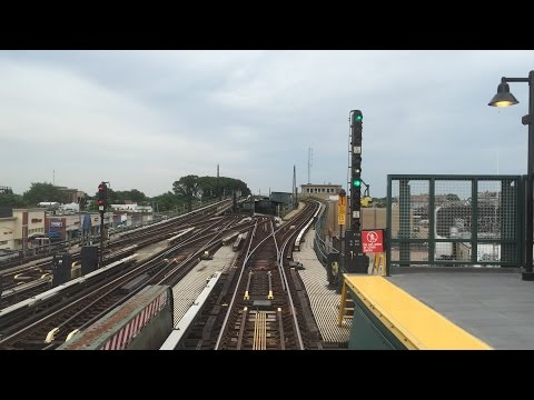 NYC Subway HD: Budd R32 A Train Railfan Window RFW Ride (Dyckman St - Lefferts BLVD) 6/24/15