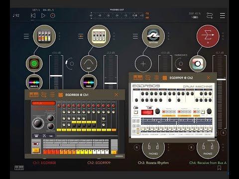 EGDR808 & EGDR909 Drum Machines - AUv3 Update Demo & AUM Session for the iPad