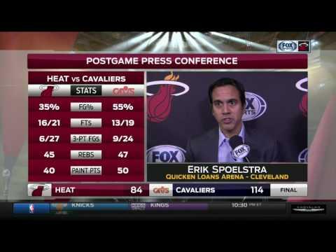 Erik Spoelstra -- Miami Heat at Cleveland Cavaliers 12/09/2016