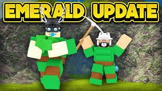NEW EMERALD UPDATE IN BOOGA BOOGA! (ROBLOX Booga Booga)