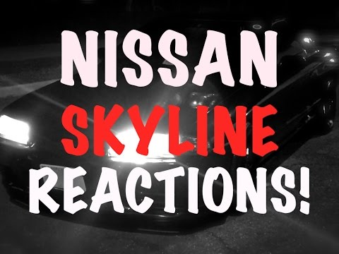 Driving a Nissan Skyline in America - REACTIONS!