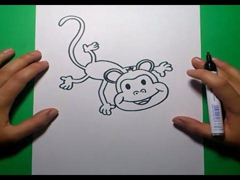 Como dibujar un mono paso a paso 4 how to draw a monkey - Tapizar un sillon paso a paso ...