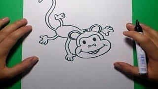 Como dibujar un mono paso a paso 4 | How to draw a monkey 4