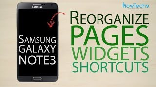 Samsung Galaxy Note 3 Reorganize page widget shortcut