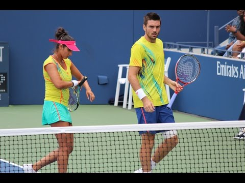 US Open 2012 Mixed Doubles Mirza/Fleming Vs Oudin/Sock Part 2