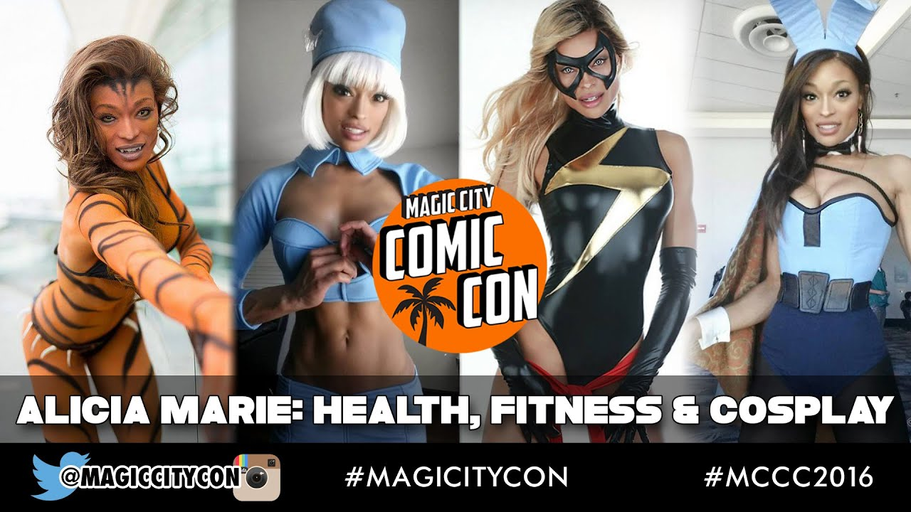 Alicia Marie, Health, Fitness, and Cosplay with Flex Lewis at Magic City Comic Con Jan 2016