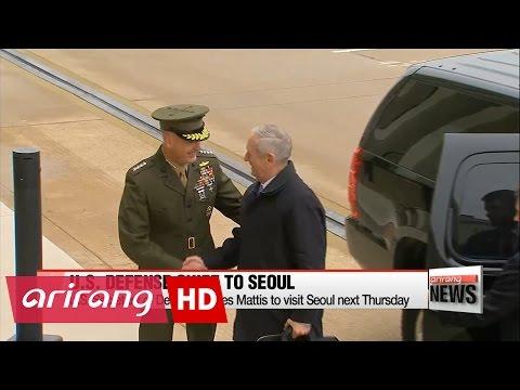 U.S. Secretary of Defense James Mattis to visit Seoul next Thursday