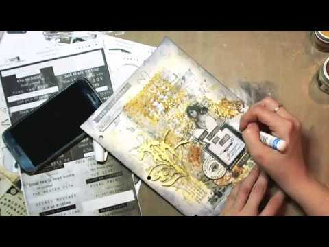 Mixed Media Mania - YouTube hop and art-journal tutorial