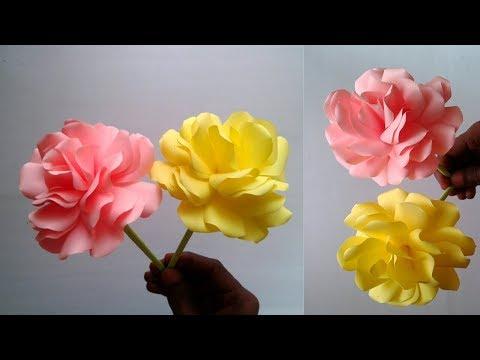 Beautiful Rose Make with Paper | DIY Paper Rose - Paper Flower || SUNIL CREATION