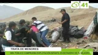 Trata de menores en El Milagro - Trujillo