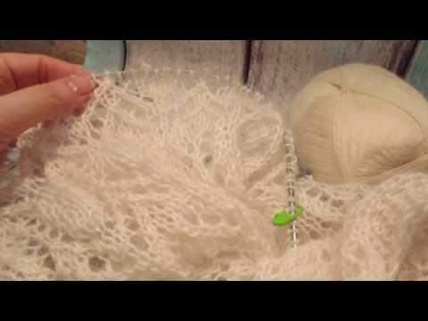 Как связать шарф-палантин