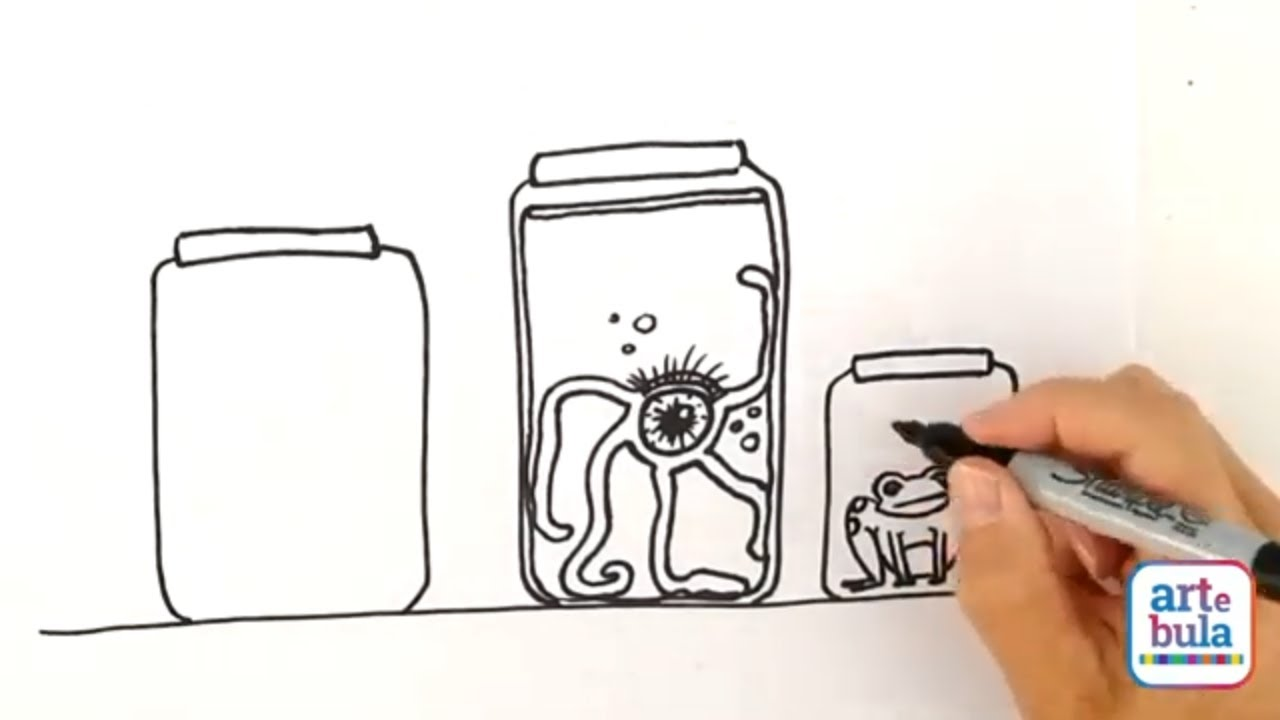 How to Draw Creepy Jars of Eyeballs
