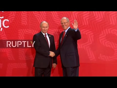 LIVE: APEC meeting takes place in Lima - Greeting ceremony
