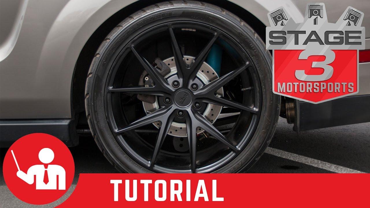 2017 Mustang V6 >> 2005-2014 Mustang V6/GT/GT500 Rear Brake Pad Install - YouTube