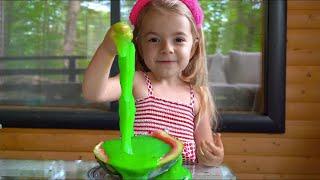 Slime in harbuz !!! Istorioara amuzanta pentru copii